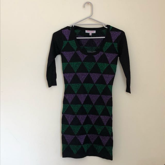 BNWT petite wool blend sleeved minidress