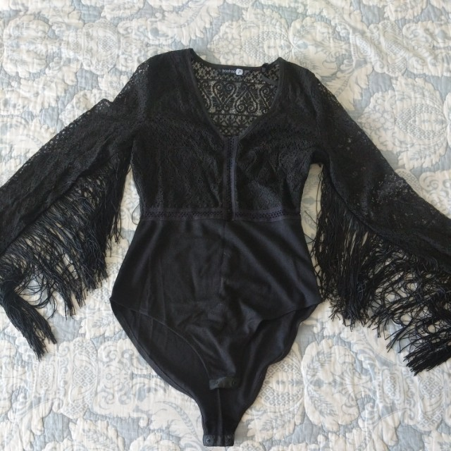 Brand new lacy tassle bodysuit