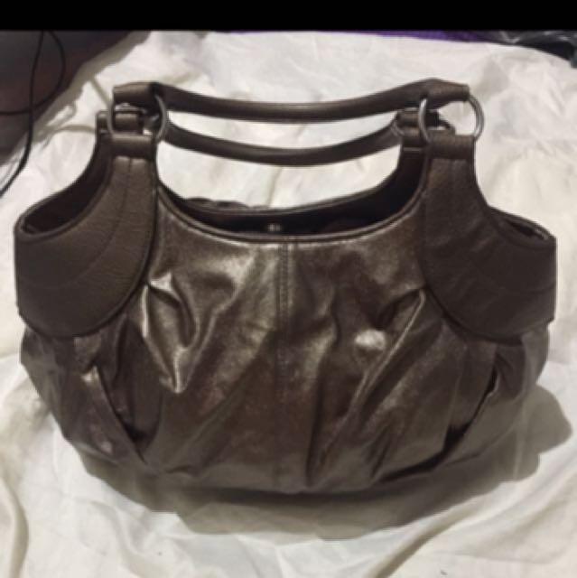 Bronze hobo bag