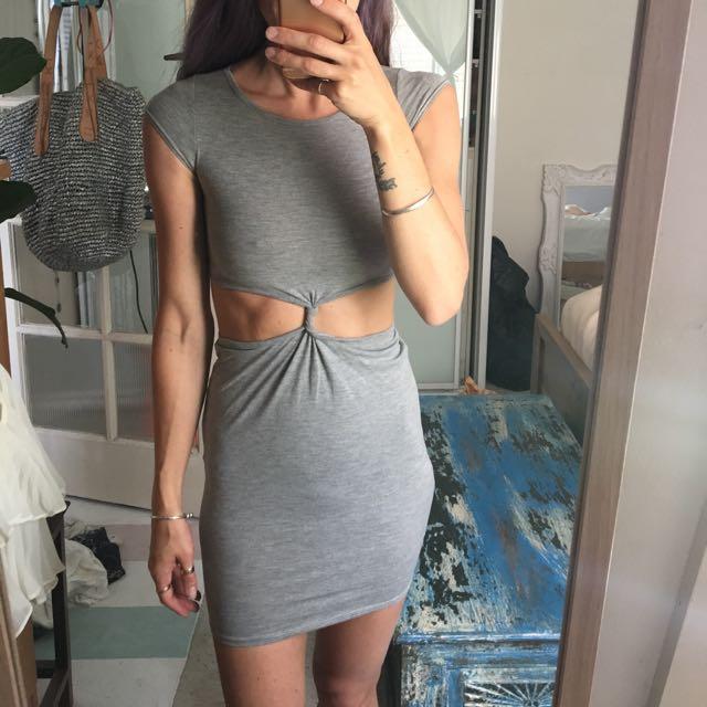 Cap Sleeve Knot Dress
