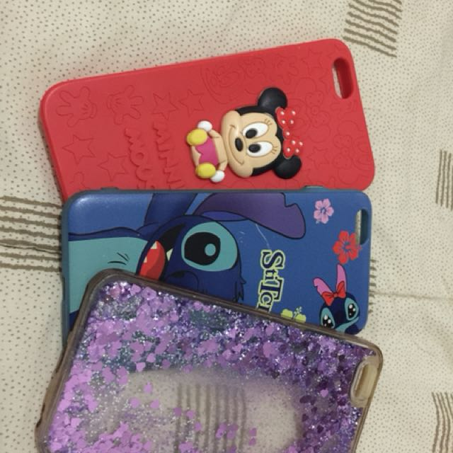 CASE IPHONE 6+. Stich sama glitter 35rb, yang minnie mouse 55rb