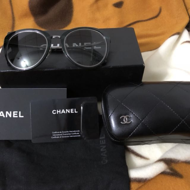 Chanel 太陽眼鏡 墨綠色框架 灰黑色鏡片 chanel 墨鏡