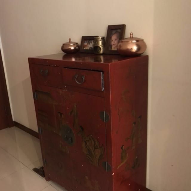 photo photo photo - Chinese Antique Shoe Cabinet, Furniture, Home Decor, Antiques On