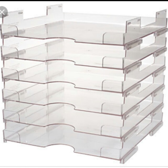 Clear Stackable Paper Trays