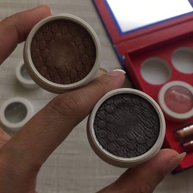 Colourpop eyeshadows, cheeks and lippie