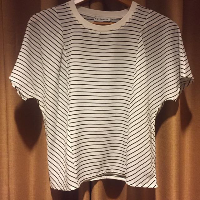 COTTON INK STRIPES TOPS ALL SIZE