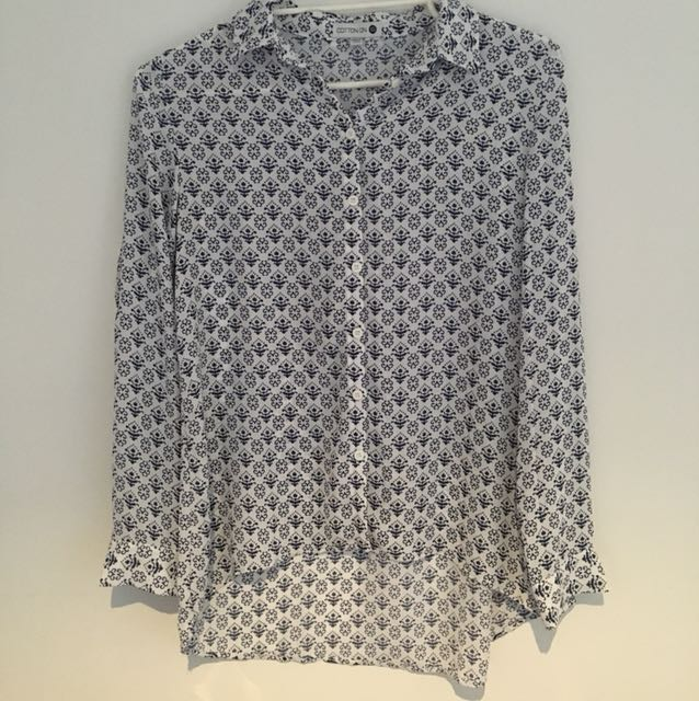 Cotton on patterned blouse shirt