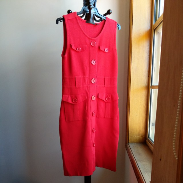 Country road red dress