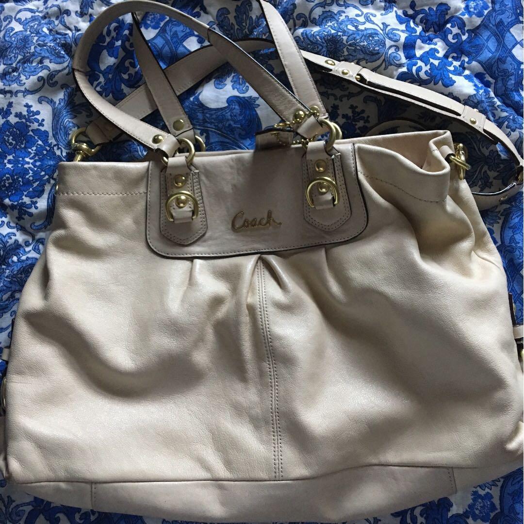 Cream coloured Coach Bag