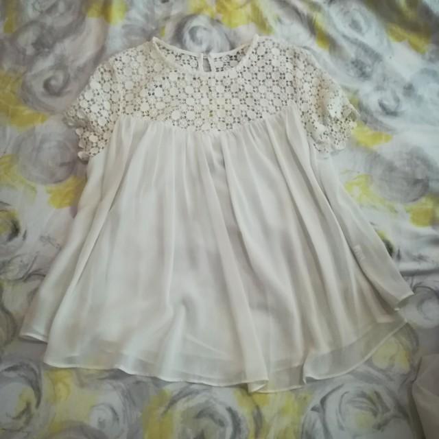 Crochet chiffon blouse
