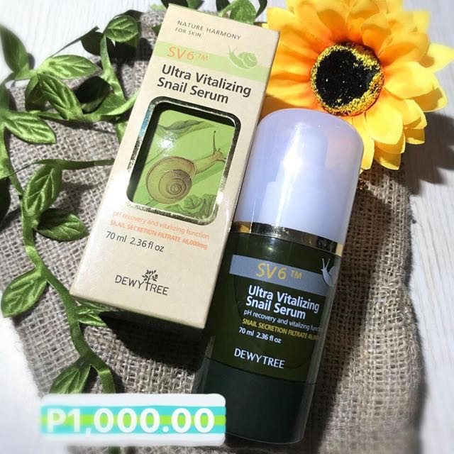 Dewy Tree Ultra Vitalizing Snail Serum (Takal Size) 5ML 100php only!