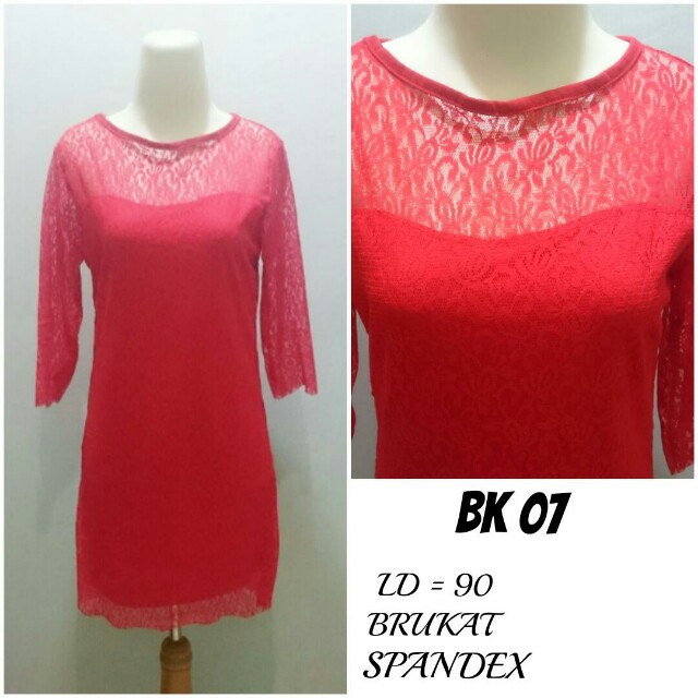 Dress Brukat lapis Spandex | BK 07