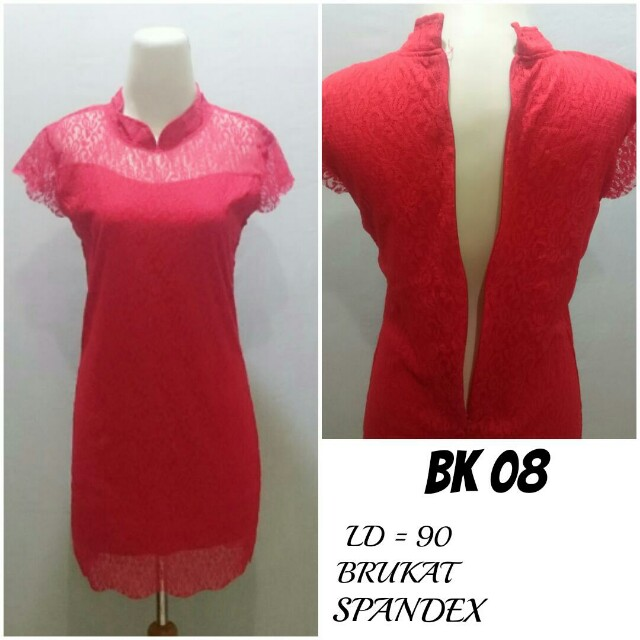 Dress Brukat lapis Spandex | BK 08