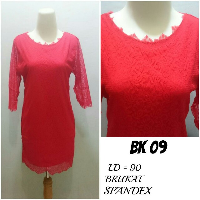 Dress Brukat lapis Spandex | BK 09