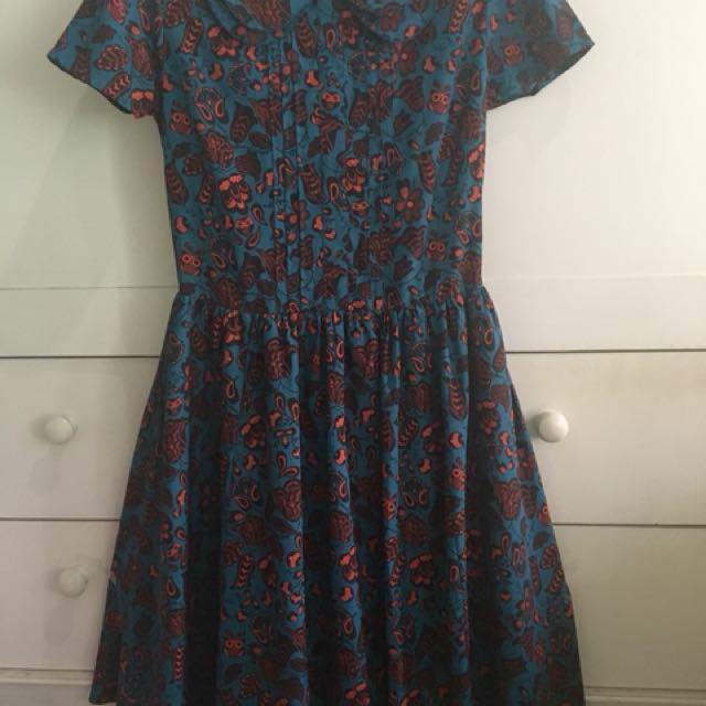 dress gaun mini midi