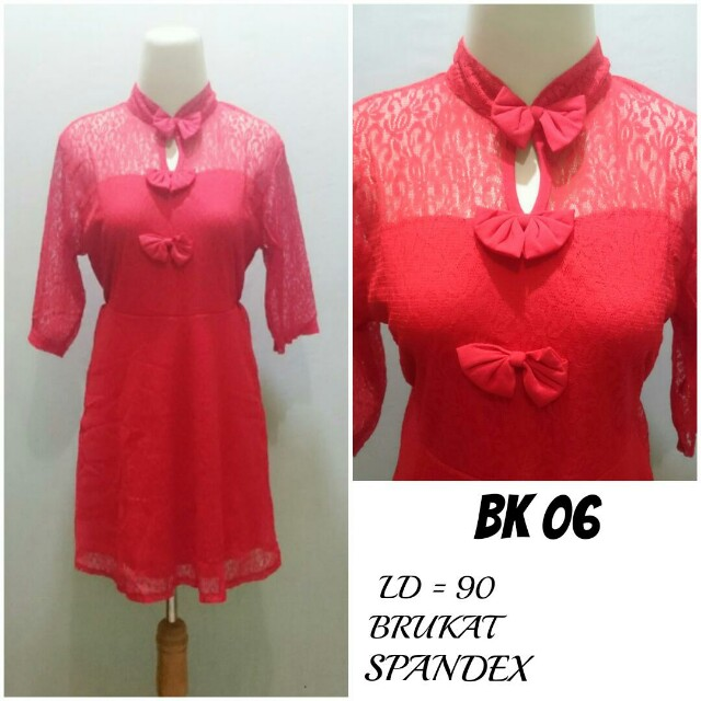 Dress Midi Brukat lapis Spandex | BK 06