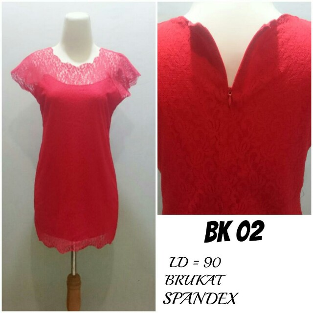 Dress Midi Brukat lapis Spandex | Dress Imlek Dress Pesta | BK 02