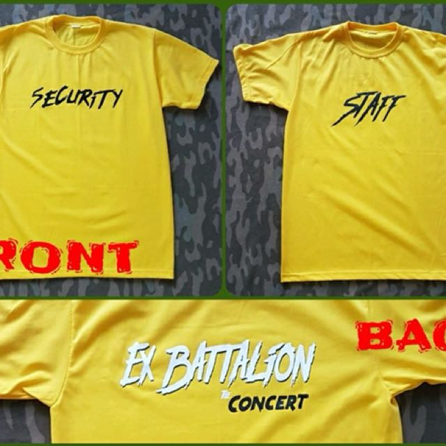 Ex Battalion Shirt Staff Security Concert Tee