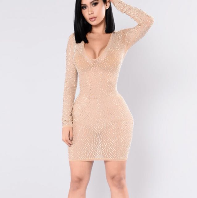 Fashionnova Rhinestone Dress