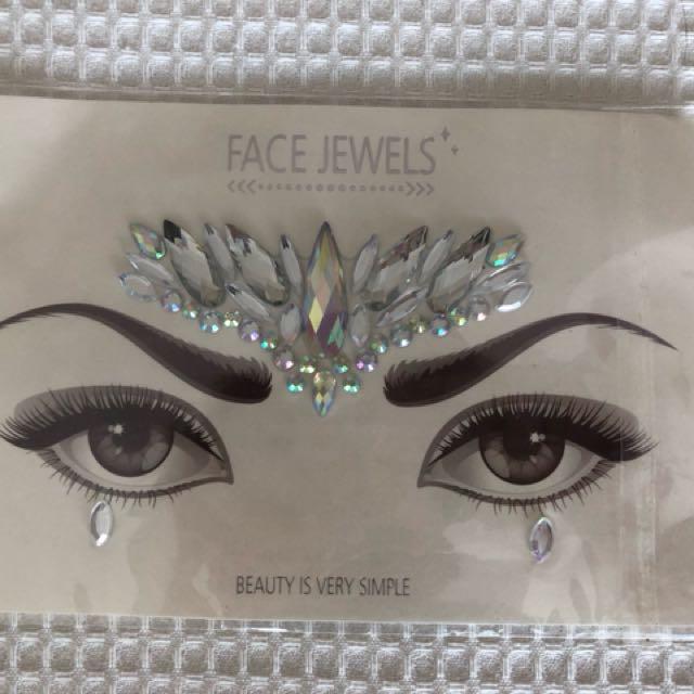 Festive festival face jewellery