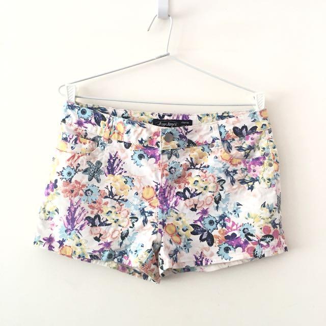 Floral Shorts AU10
