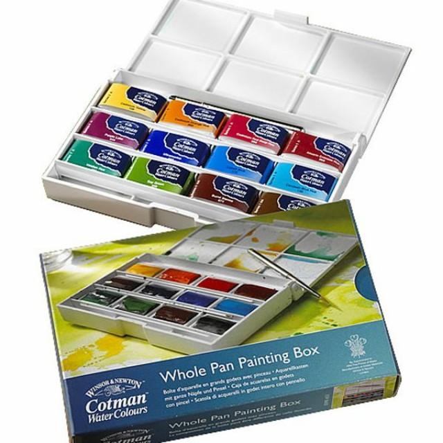 Freepos Whole Pans Windsor Newton Cotman Watercolour Set