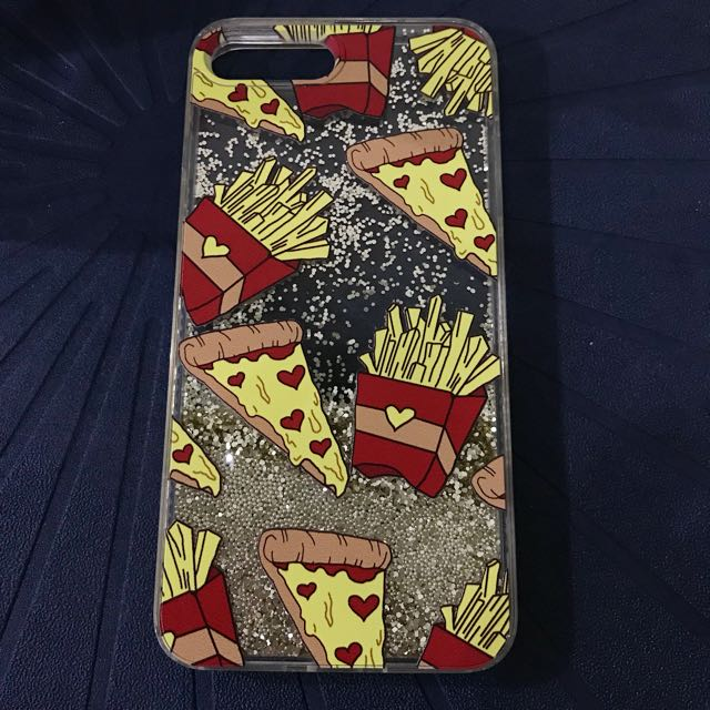 Frenchfries water glitter case