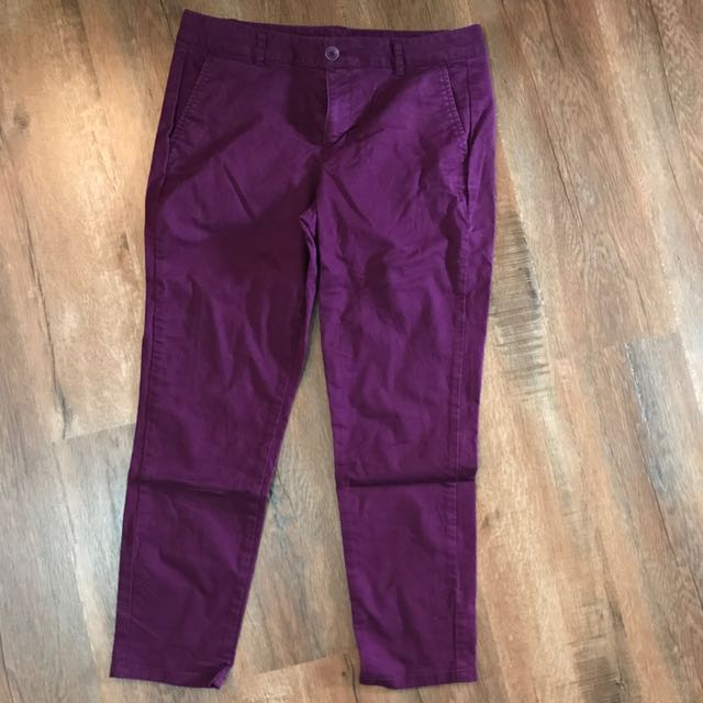 Gap Skinny Mini Purple Crop Jeans Size 10
