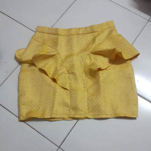 Gaudi Yellow Pencil Skirt