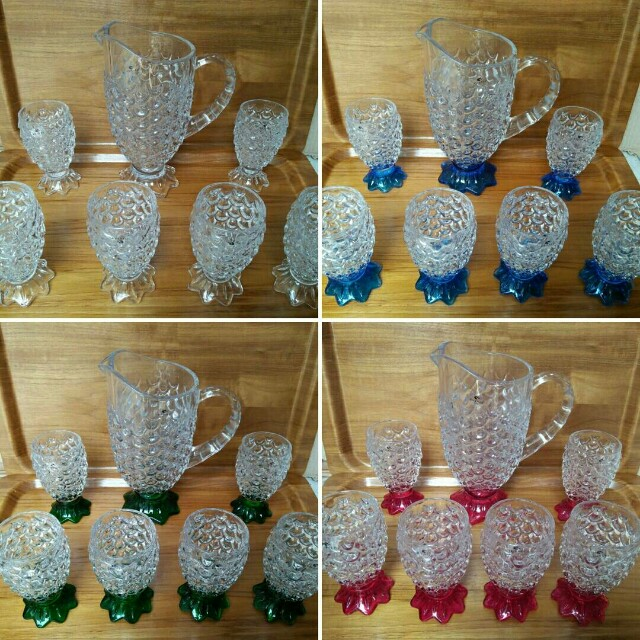 Gelas nanas vicenza set + teko, pineapple pitcher set vicenza