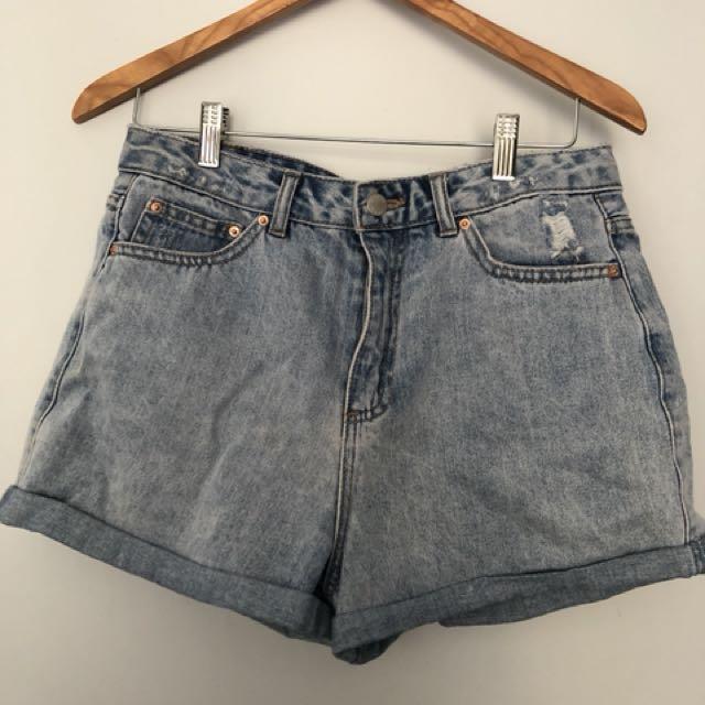 Glassons boyfriend shorts size 10
