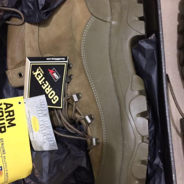 正美軍Gore-Tex全新真皮軍靴12.5,原買6千多