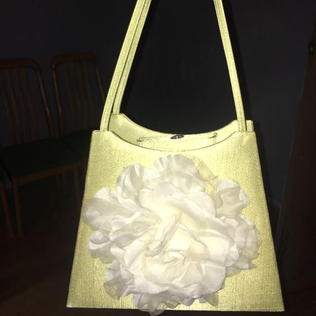 Green Flower Handbag