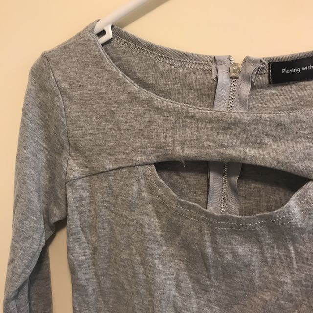 Grey crop with cut out