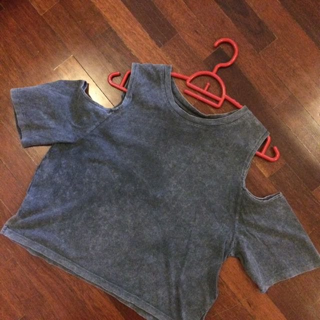 Grey washed top