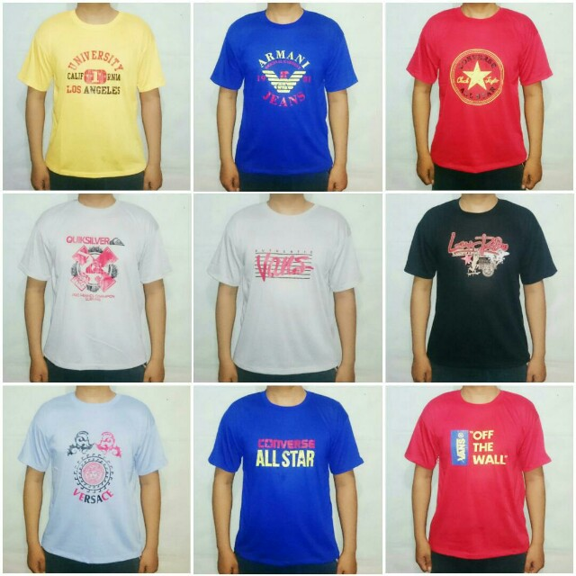 Grosir Kaos Oblong size XL minimal 6pcs