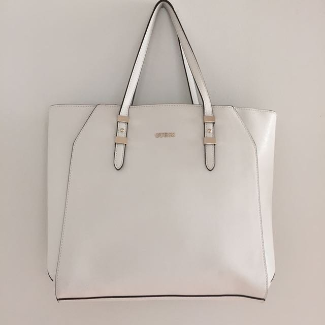 GUESS Brand New White Tote Bag
