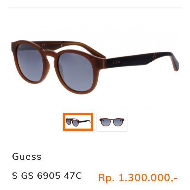 GUESS sunglasses with mirror / reflective lens original authentic branded kacamata hitam pria