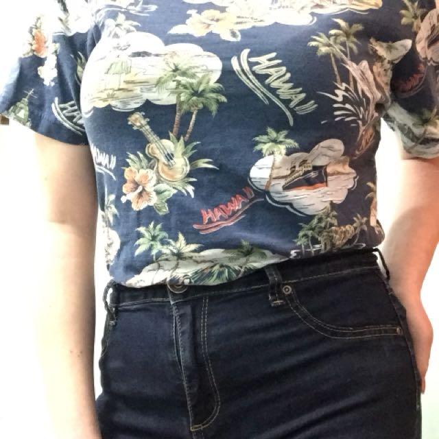 Hawaiian print T shirt