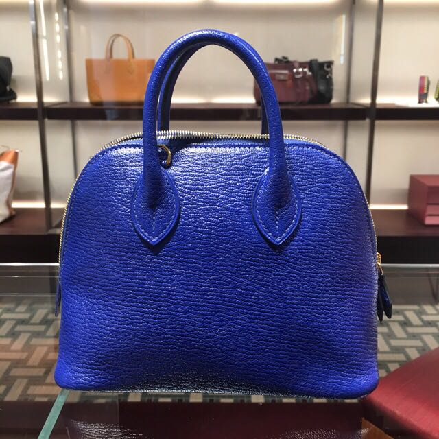 6f87255607c9 ... authentic hermes mini bolide electric blue gold carousell 361fb f3e64  ...