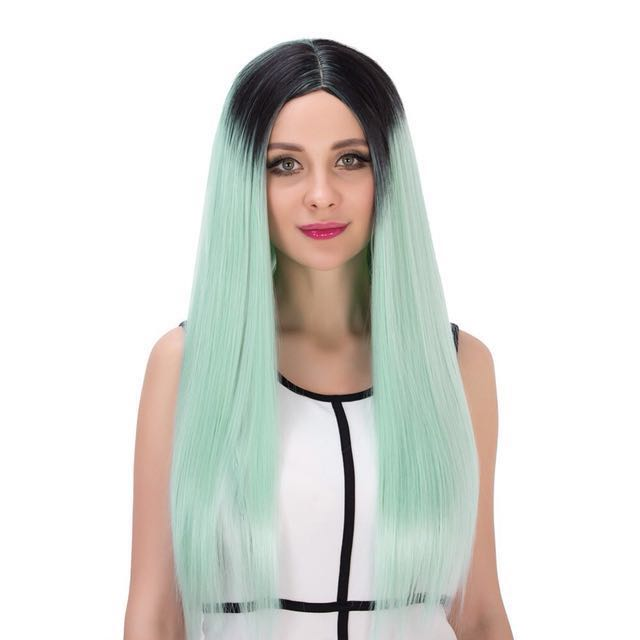 High Quality 70cm Synthetic Wig (ombre mint)