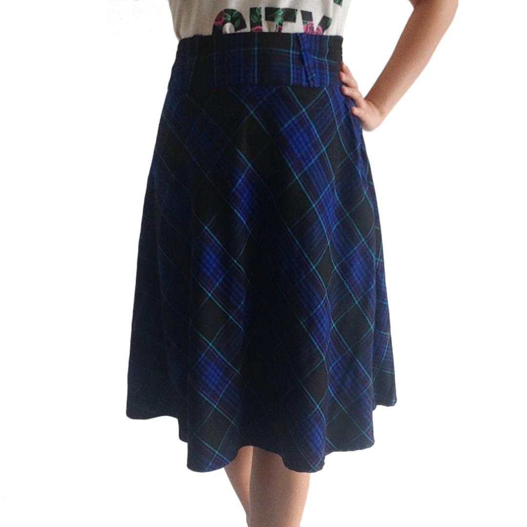 H&M Checkered Skirt