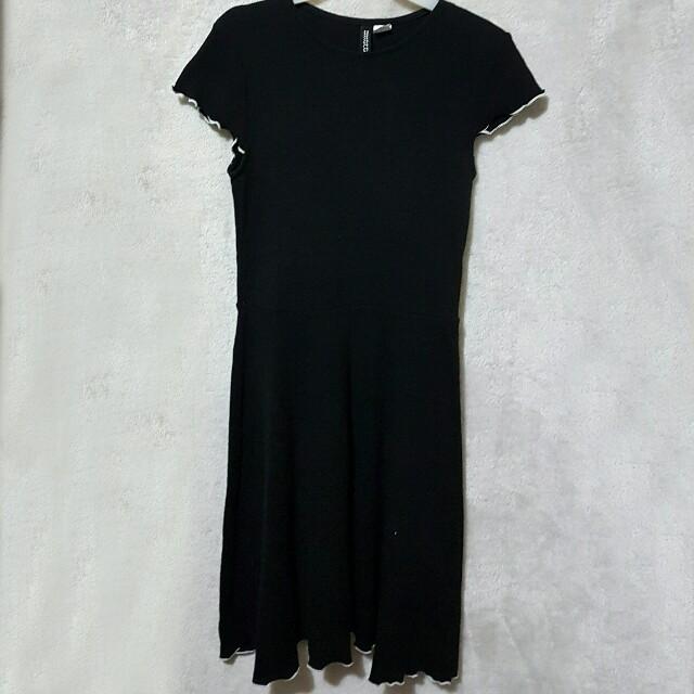 H&m crinkled sleeves dress