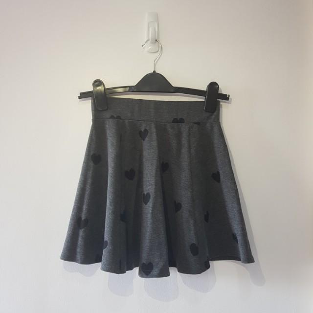 H&M Gray Heart Skirt