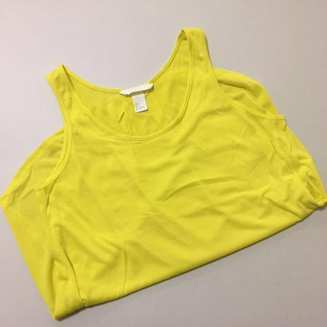 H&M Yellow Tank Top