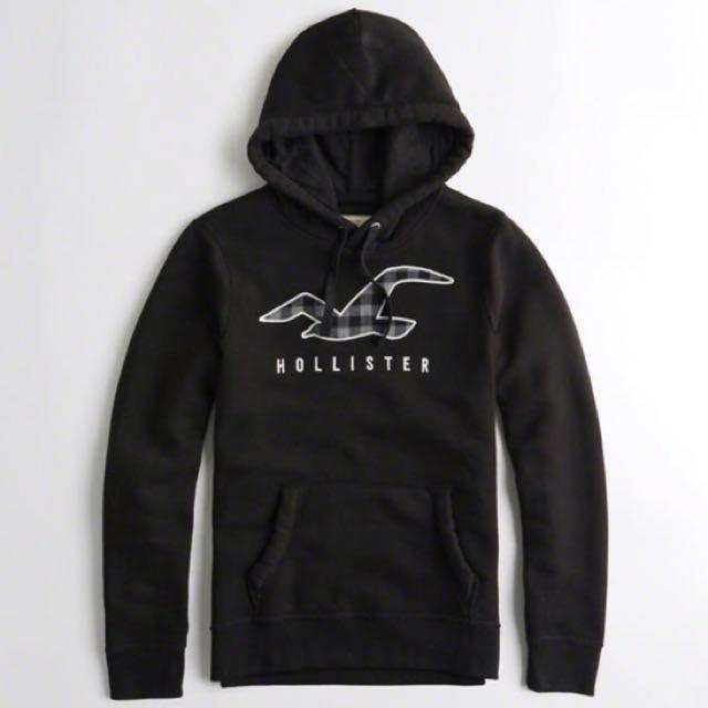 Hollister男士黑色帽T(正品 現貨)
