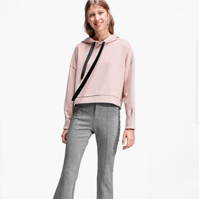 HOODIE velvet sweatshirt with drawstring stradivarius