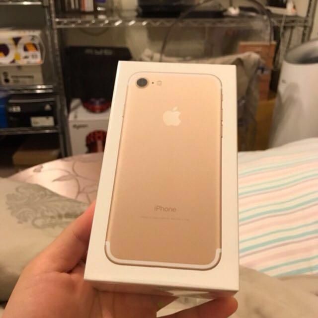 iphone 7 256G 金色 全新未拆封