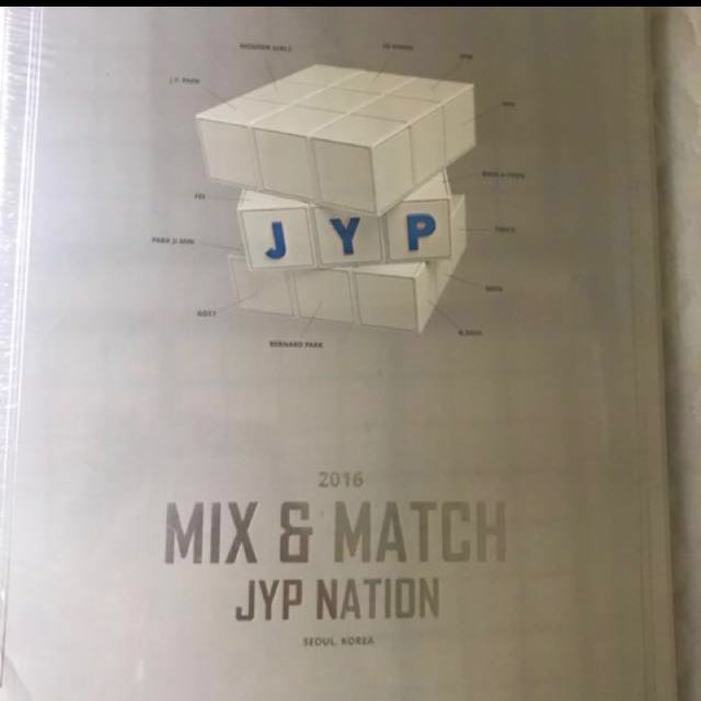 JYPnation mix and match photobook