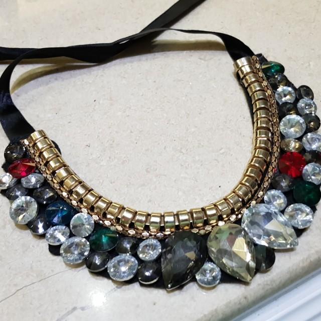 Kalung Fashion Permata / Fashion Necklace Bling Bling